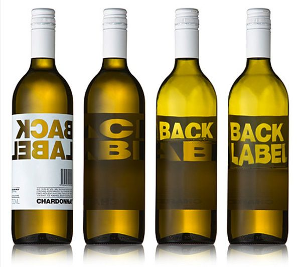 Mirror image wine label.