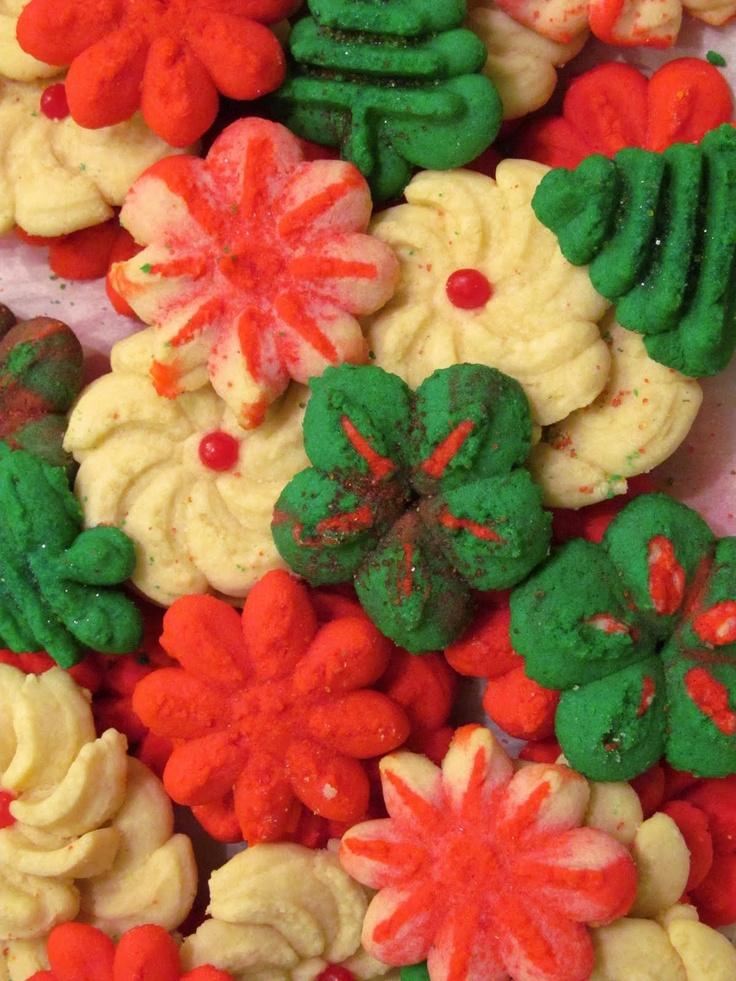 Spritz Cookies   Christmas Foods   Pinterest