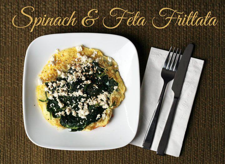 Personal Spinach & Feta Frittata   Skinny Sometimes Recipes   Pintere ...