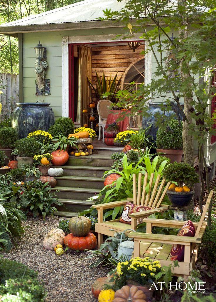 Garden area with pumpkins and mums garden ideas pinterest for Garden area ideas