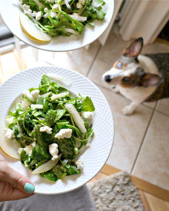 Arugula, Asian Pear Salad with Shallot Vinaigrette via EnvisionPretty ...