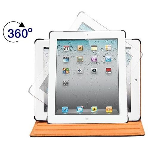 360 Rotating Stand And Cover For Ipad  Ipad 4 Black With