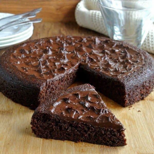 "Decadent Chocolate Torte ~ via this blog, ""Vegan in the Freezer""."