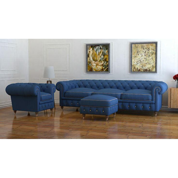 Chesterfield sofa set by Lagoon Blue Pinterest