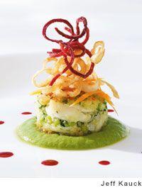 Crab Cakes with Avocado-Habanero Sauce Recipe | Leite's Culinaria