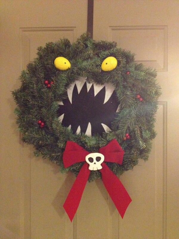 stuff: Nightmare Before Christmas Wreath my husband made for Christmas ...