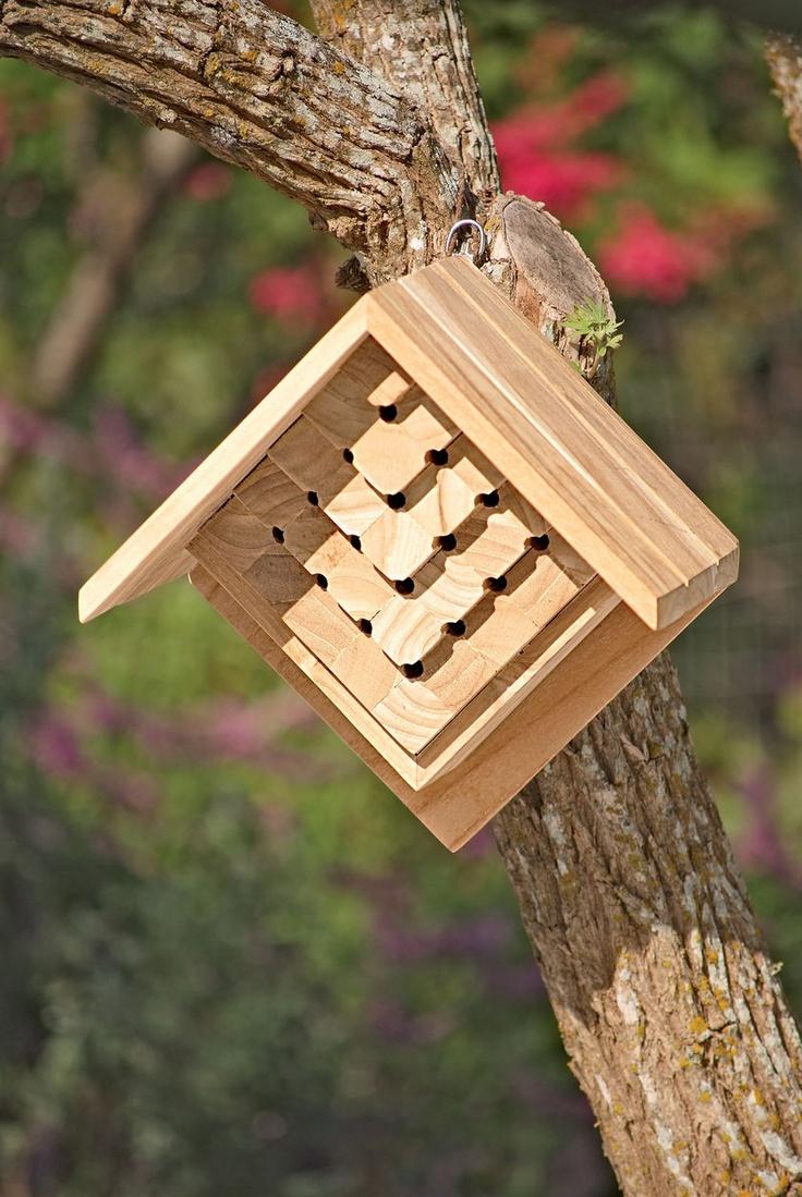 Teak Mason Bee House