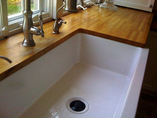 Undermount sink w/wood countertops? Interesting discussion on pros and ...