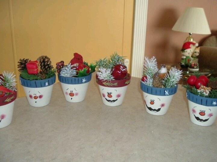 Diy snowman Pot | christmas | Pinterest