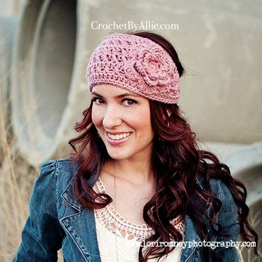 Emma Crochet Head Wrap headband ear warmer by crochetbyallie
