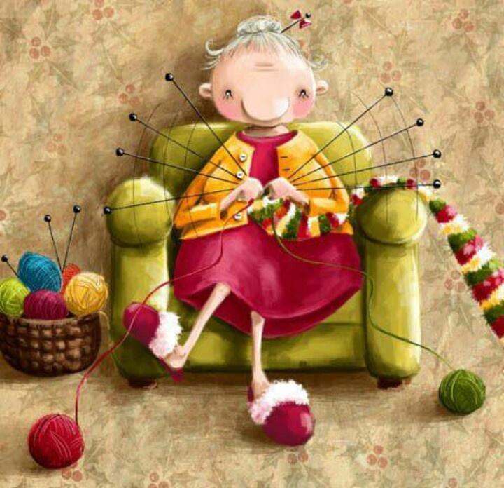 Old Grandma Knitting : Grandma loves to knit knitting is the old yoga pinterest