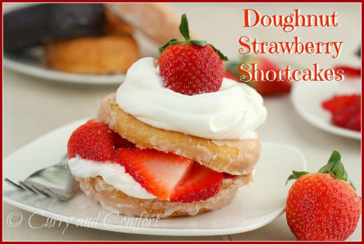 donut strawberry shortcakes | Food & Drink - Desserts | Pinterest
