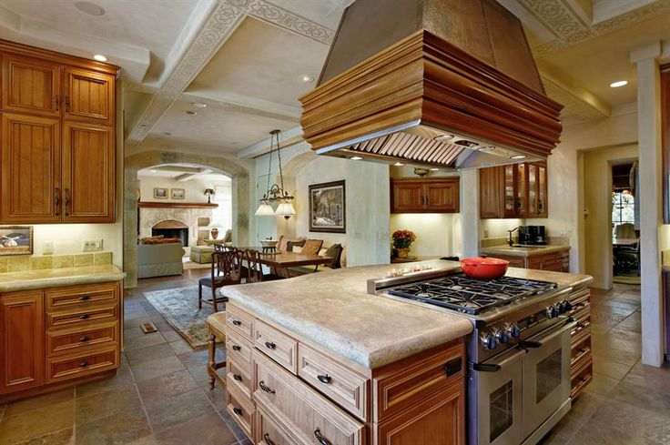 Center island with large stove kitchen for bobbob nonie pinterest Kitchen design center stove