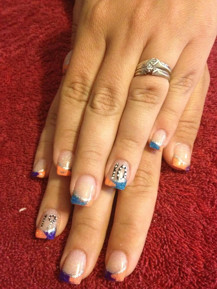 acrylic color nails nails