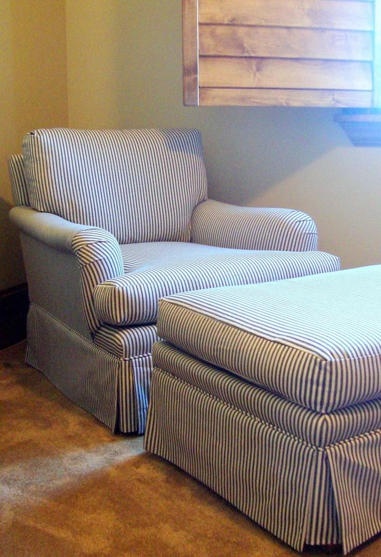 Ticking Stripe Club Chairs