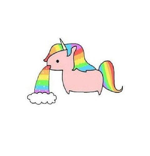 similiar unicorn throwing up rainbow keywords