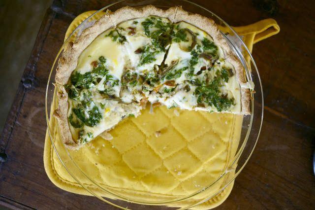 kale and feta quiche | good eats | Pinterest
