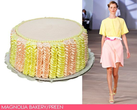 Have Your Cake and Wear It, Too: Confections Inspired by Spring's Runways. Magnolia Bakery designs a cake for vogue