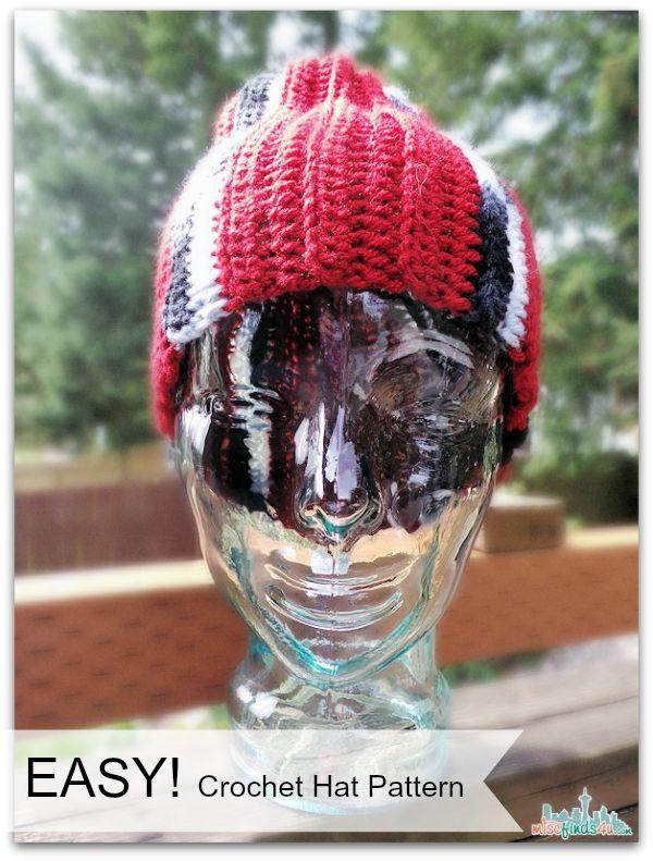 Crochet Patterns With Scrap Yarn : Crochet How To Video: Free Hat Pattern for Scrap Yarn Seattle ...