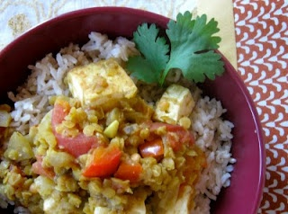 tofu and lentil curry with basmati rice | What's Cooking | Pinterest