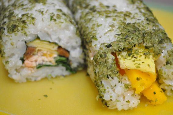 Mango Sushi Roll - Chef Olivia Huang | Sushi + Sashimi | Pinterest