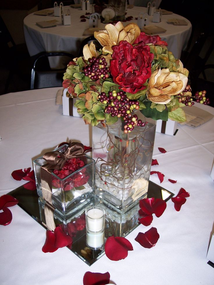 Centerpiece for fall wedding ideas pinterest for Wedding decorations centerpieces