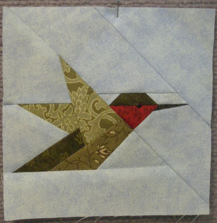 Pieced hummingbird a quilts paper piecing pinterest