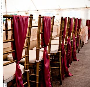 Bride/Groom chair tie