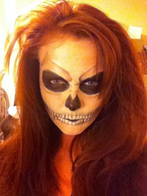 Zombie/skull Face With Cheap Makeup. | Halloween U0026 Costume | Pinterest