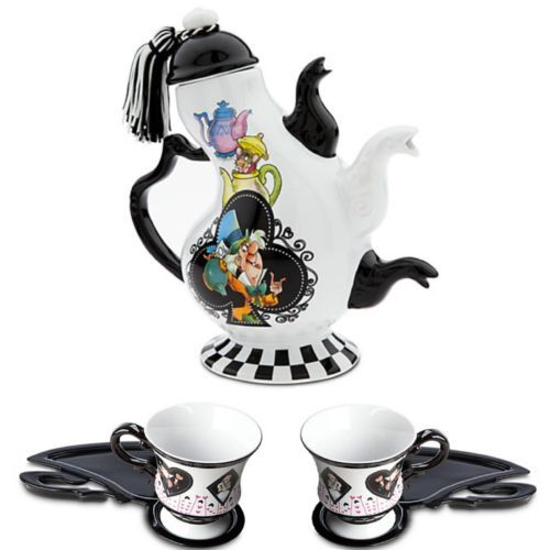 Disney Parks Tea Set - Alice in Wonderland Tea Pot ,Matching Tea cups & Saucers | eBay