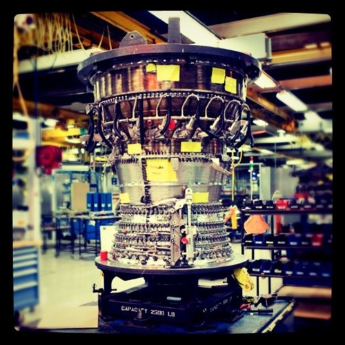 I think this was our engine for my senior design project! The core of a CFM56-7 engine, which powers the Boeing 737!