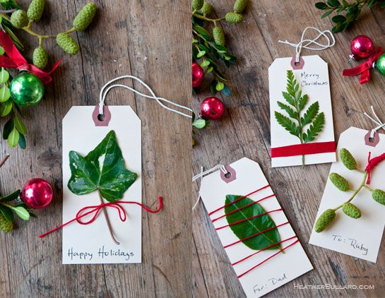Everygreen Gift tags---so pretty!