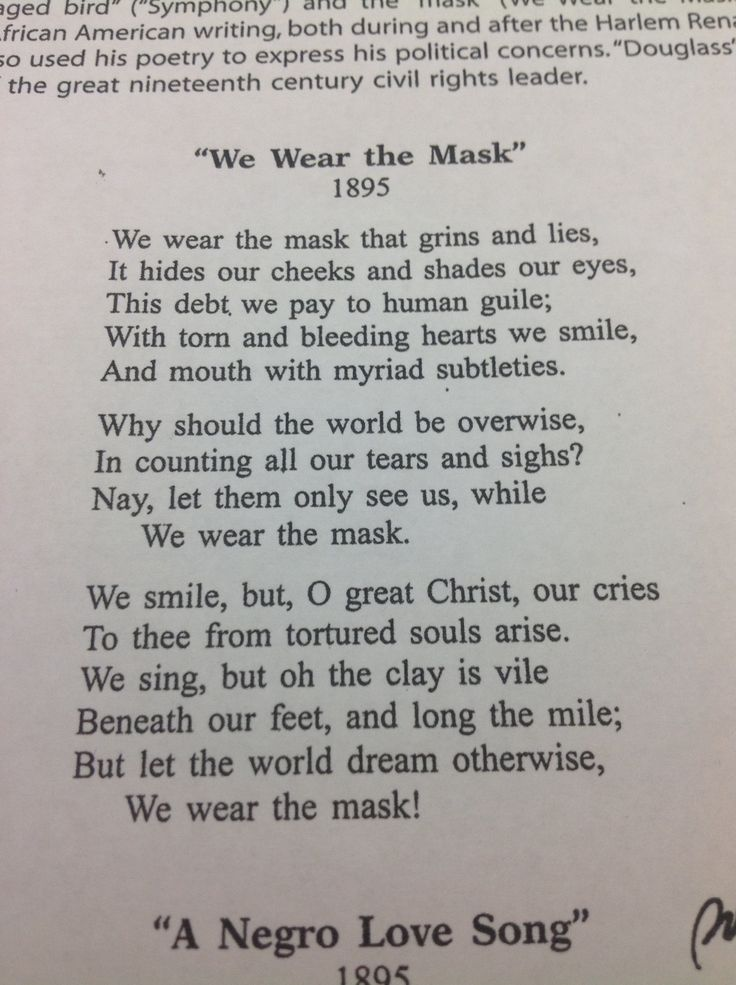 essay on the poem we wear the mask We wear the masks by gracelessly this paul laurence dunbar poem we wear the mask took place in the slavery period of related essays: we wear the.