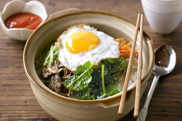 Bibimbap, so making a healthy version