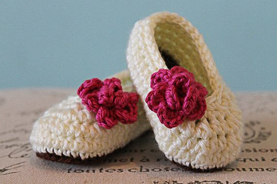 CROCHET PATTERN PDF - Crochet Baby Girl Booties with Rose ...