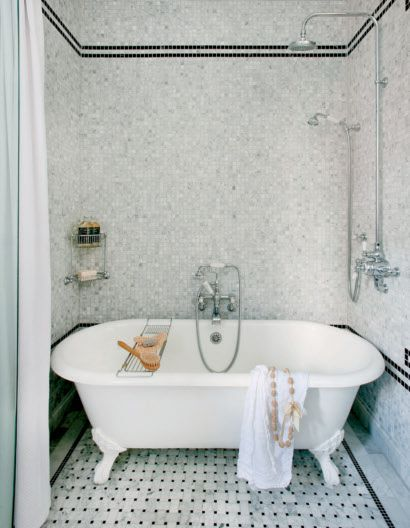 Luxury decormag – bathrooms – exposed plumbing exposed shower plumbing rain shower head tub in shower bathtub in shower shower bath bo Idea - Cool bathroom with tub and shower Photo