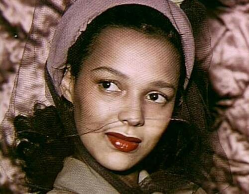 Dorothy dandridge glamour shot c1949 vintage beautiful women pint