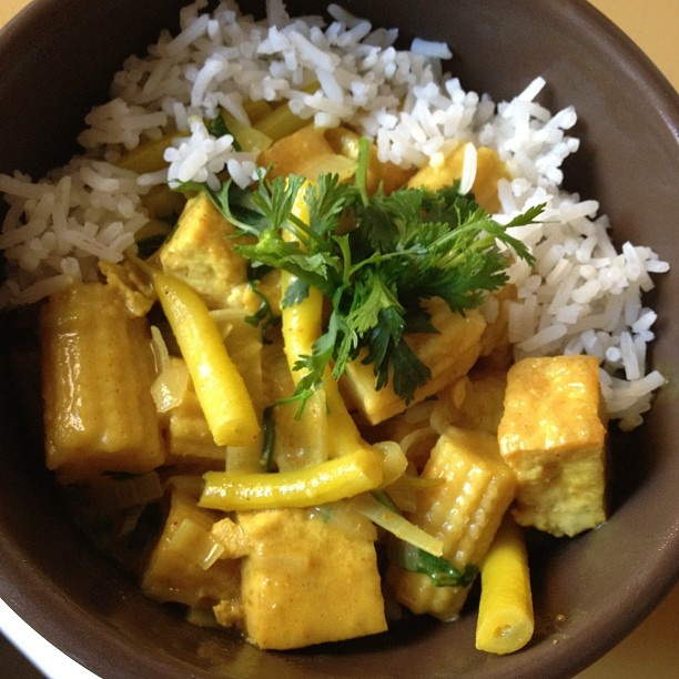 Curry tofu and coconut milk | Forks Over Knives | Pinterest