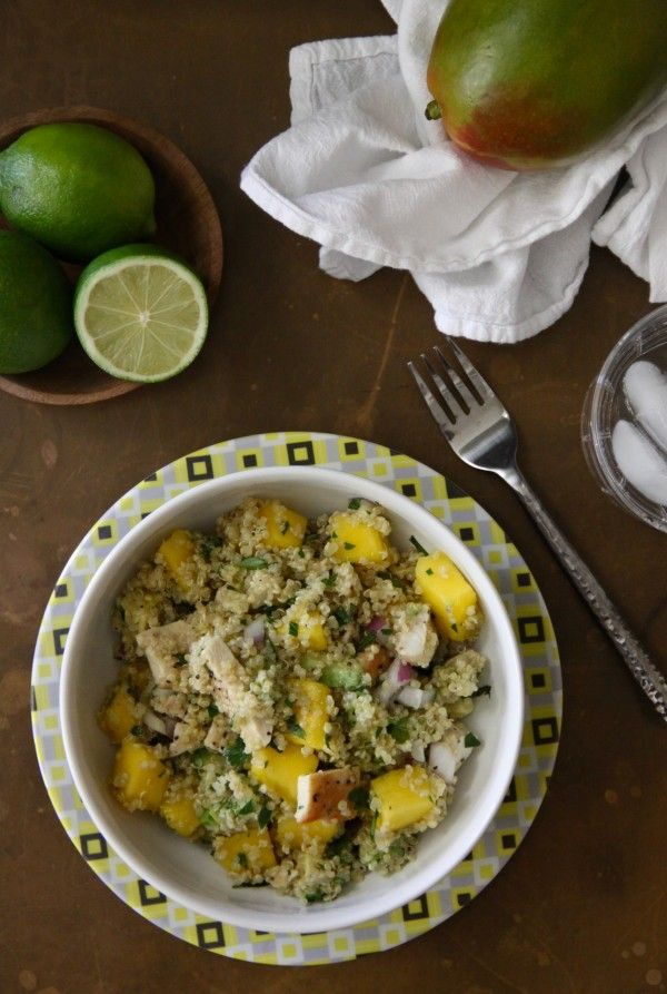 Grilled Chicken, Mango, and Avocado Quinoa Salad | Recipe