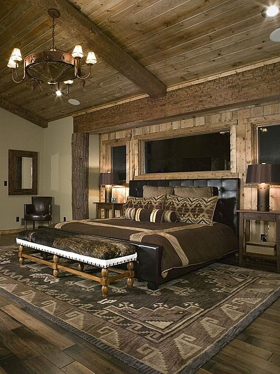 Rustic master bedroom country dream home pinterest for Bedroom designs rustic