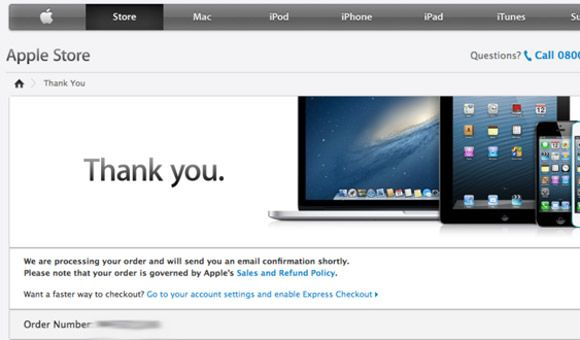 iphone 5 pre order tracking number