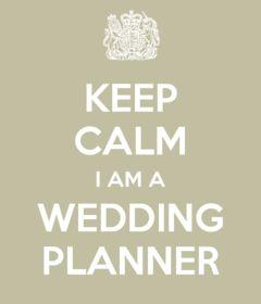 Cartel: Mantén la calma y contrata a una wedding planner.