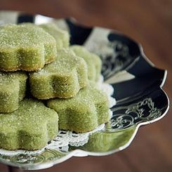 Green tea shortbread cookies. | Cookies | Pinterest
