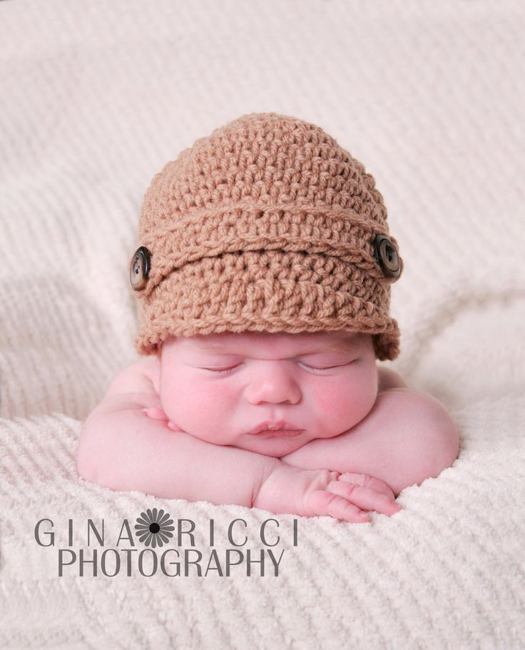 Baby Hat CROCHET PATTERN PDF Boy Girl Newsboy Beanie Cap ...