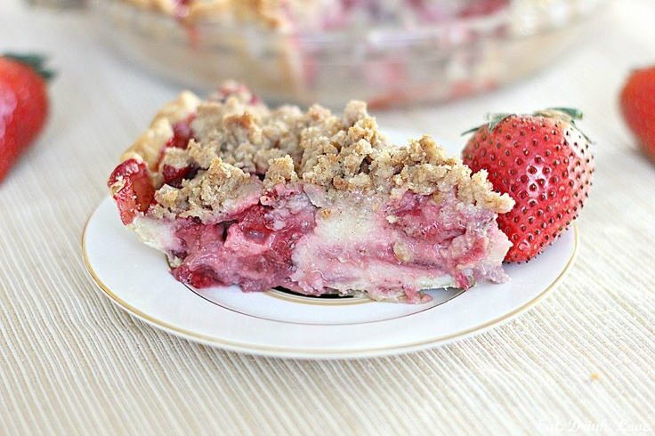 Strawberries and Cream Pie @Stephanie Close Day