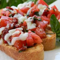 Healthier Double Tomato Bruschetta Allrecipes.com...we love this ...