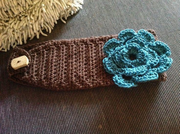 Crochet Hair Wrap : Crocheted hair band head wrap Girls Ideas Pinterest