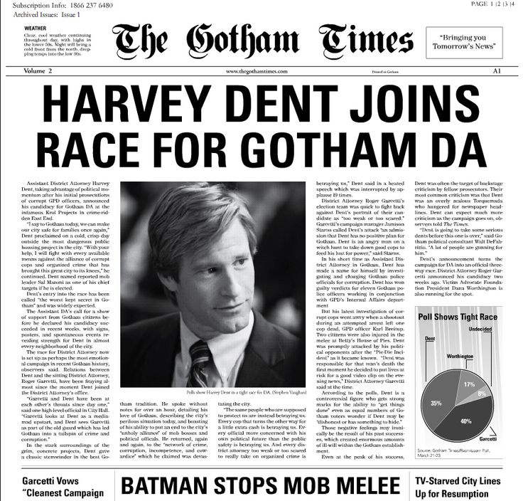 Newspaper Layout Batman Mock Up  Typography And Layout Designs
