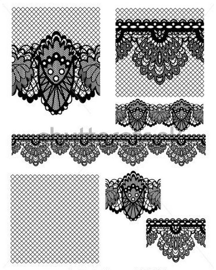 Simple lace patterns clipart - photo#19
