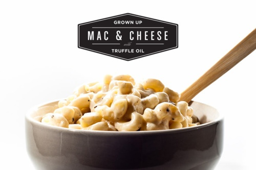 Truffle oil mac & cheese. | Be Our Guest Food! | Pinterest